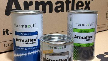 Papildytas Armaflex®klijų asortimentas AHU-700/1,0 ADH-HT625/1,0 ADH-RS850/0,5