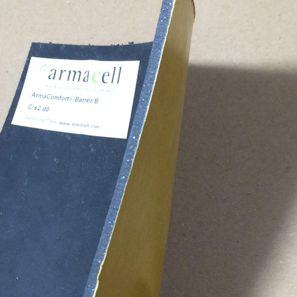 ArmaComfort® Barrier B – reakcijos į ugnį Euroklasė C-s2, d0